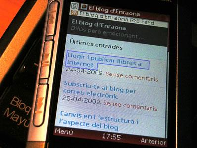 El Blog d'Enraona al mòbil