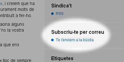 Enllaç a la subscripció