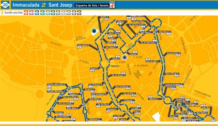 Sabries trobar aquí per exemple el carrer de Jesús?