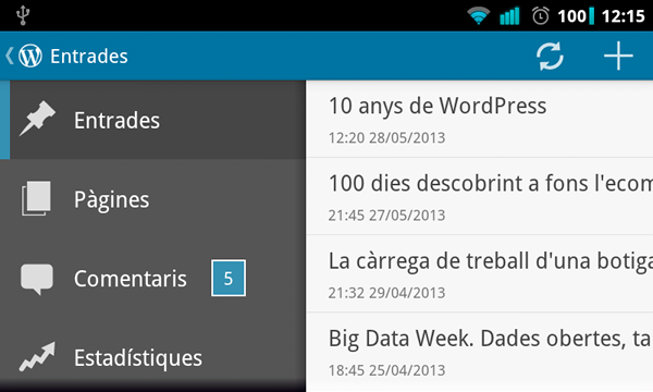 WordPress sobre Android