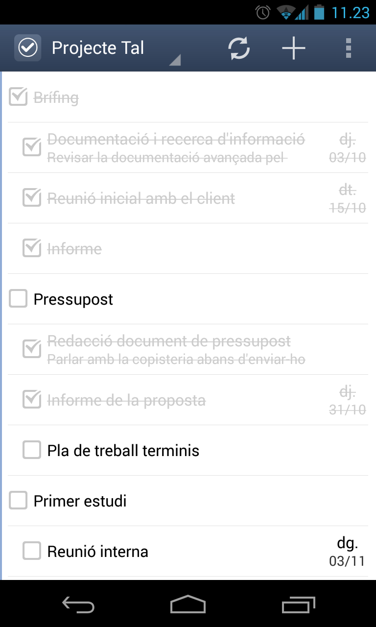 GTasks per Android