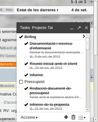Google Tasks al Gmail