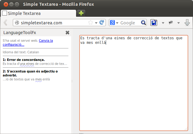 LanguageTool al Firefox